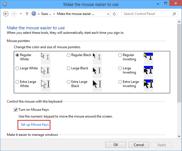 How to Set Up Mouse Keys in Windows 10