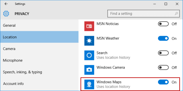 select-windows-maps-to-use-location