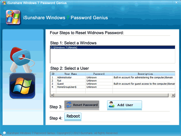 forgot windows 7 password and have no reset disk