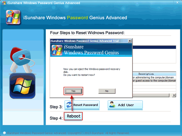 reset hp windows password with software