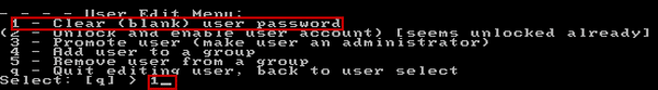 choose to clear win 7 user password