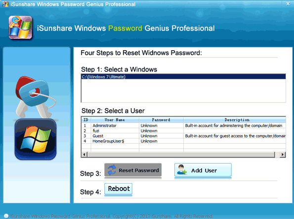 Windows 7 Admin Password Reset with 3 Ways