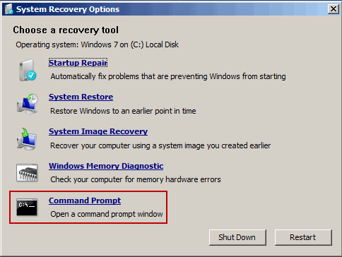 windows 7 safe mode command prompt system restore