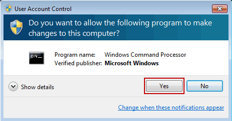always run cmd prompt as administrator