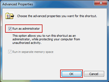 windows 7 command prompt as administrator shortcut