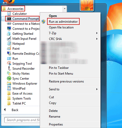 How to Run Command Prompt as Administrator in Windows 7