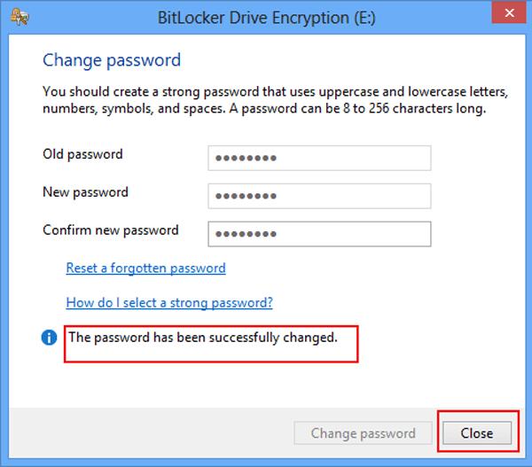 change password for windows 8