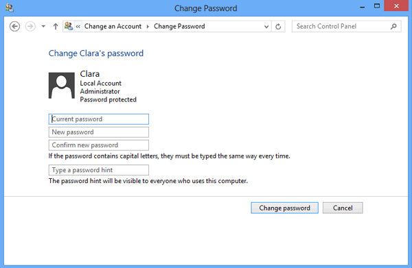 remove surface user password