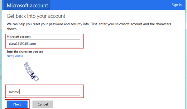 confirm microsoft account email account