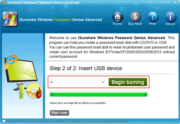 create microsoft account password reset disk
