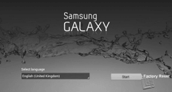 Samsung tablet factory reset