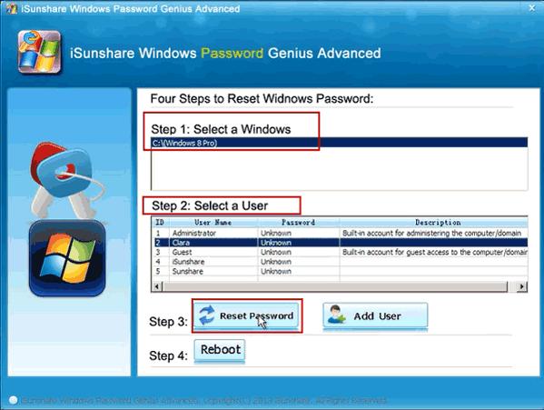 crack admin password windows 8