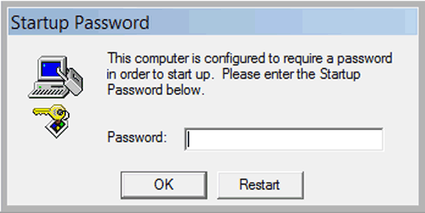 How to Remove Startup Password If Remember It