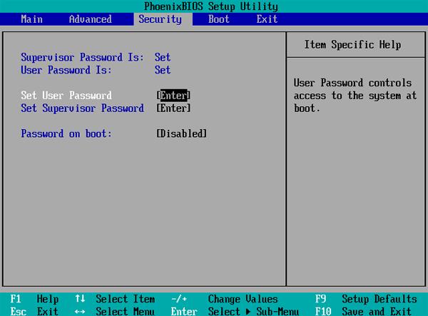 How to Reset Supervisor Password on Windows 8 computer