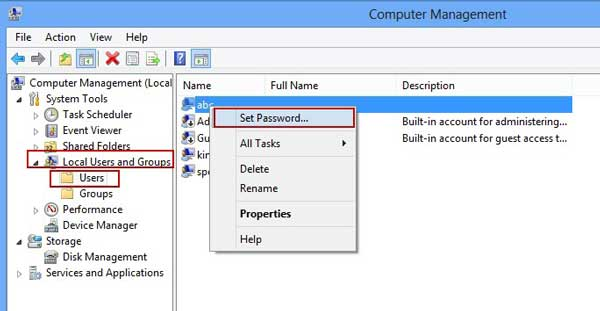 How to reset windows 8 password without disk free