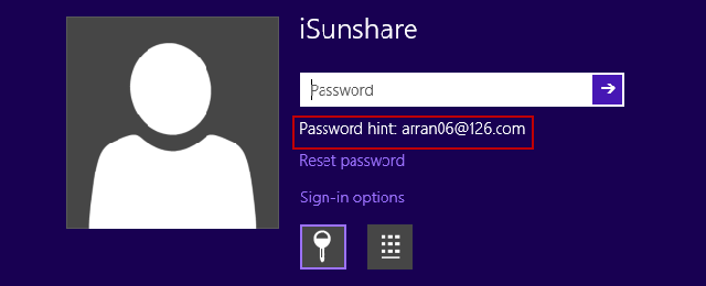 think of password through password hint