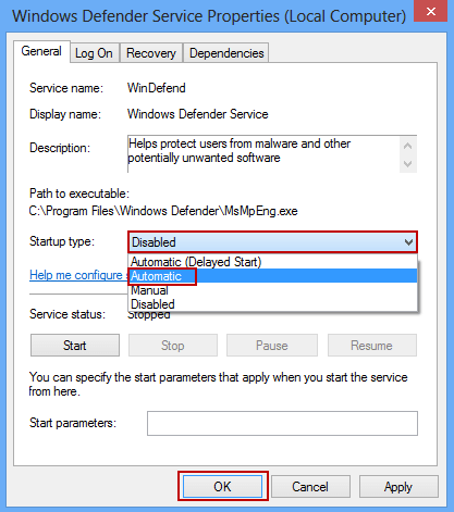 cannot enable windows defender windows 10