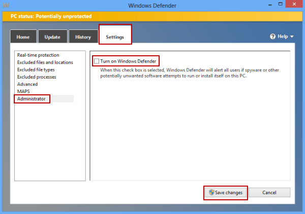 3 Ways to Disable Windows Defender on Windows 8/8 1