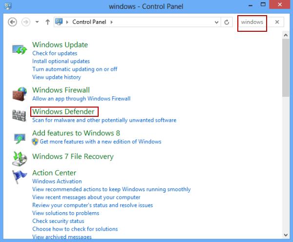 4 Ways to Turn on Windows Defender in Windows 8/8.1