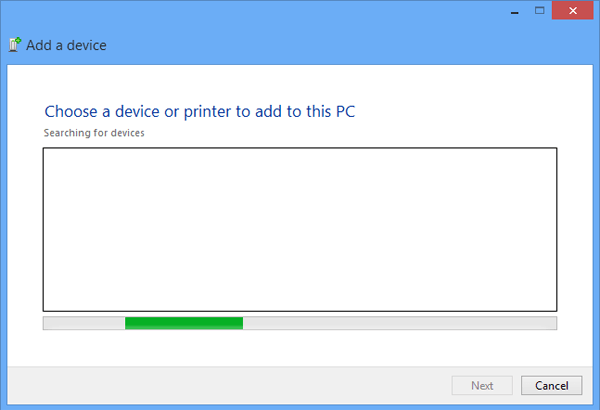 Add and Remove A Device on Windows 8 Computer