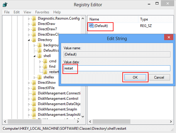 How to Add Restart and Shut down to Folder Context Menu