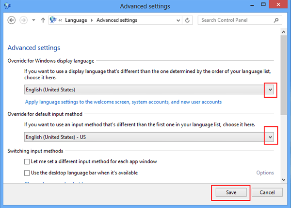 How to Change Language on Windows 8