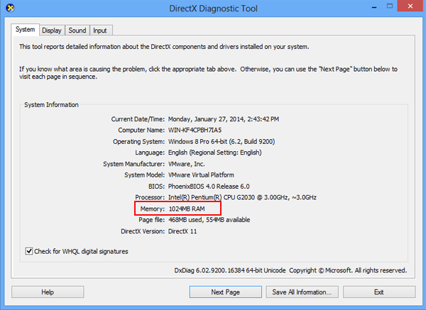 How to Check Computer Memory on Windows 8/8 1
