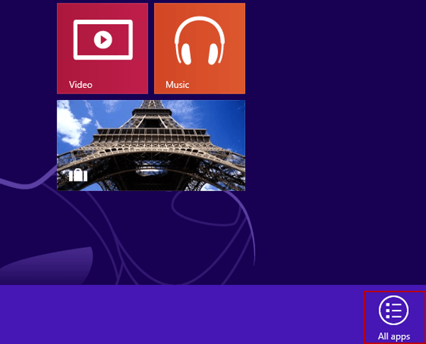Create A Shortcut for All Apps on Desktop in Windows 8/8.1