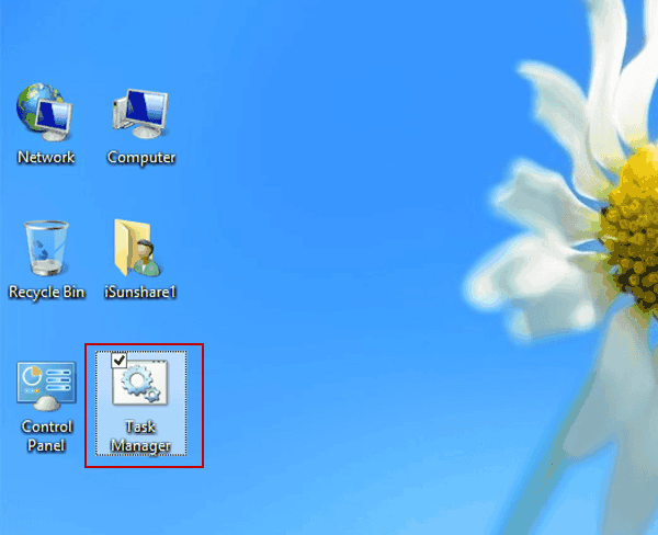 create a task manager shortcut on desktop in windows 8  8 1