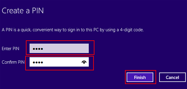 How to Create, Change and Remove A PIN on Windows 8/8 1 Computer