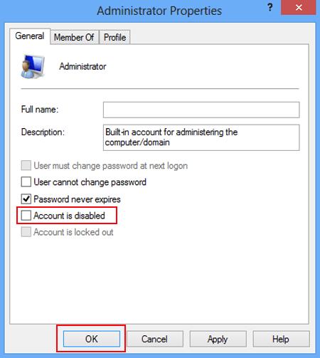 remove password windows 8 administrator account