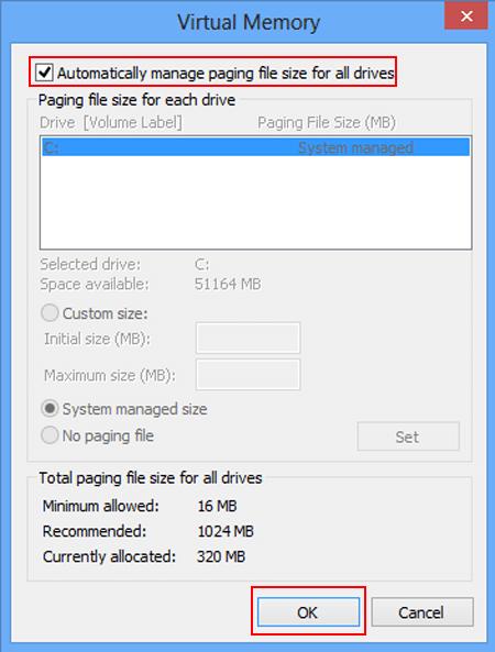 How to Fix Low Virtual Memory   Windows 8/8.1