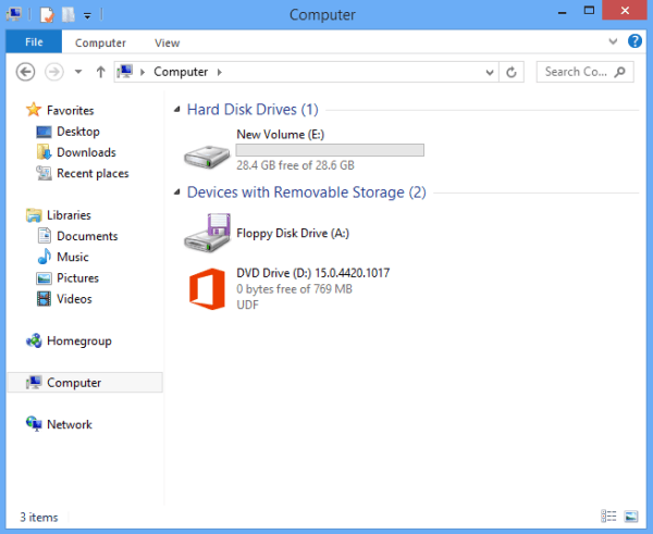 Hide Drives in My Computer on Windows 8/8.1