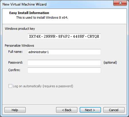 windows 8 product key during installation