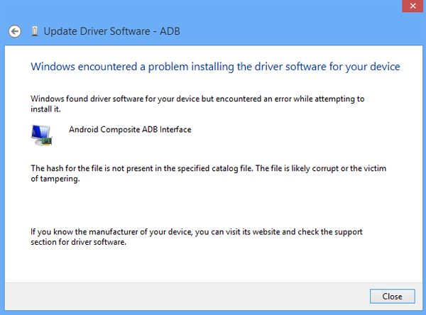 windows 7 install unsigned drivers