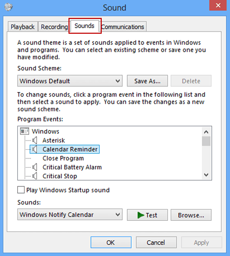 Prevent Changing Sound in Windows 8/8 1 Computer