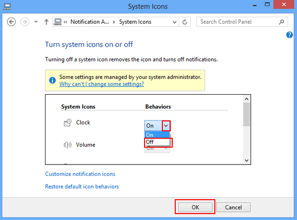 ... icons and system icons on the taskbar of your Windows 8 or 8.1 PC