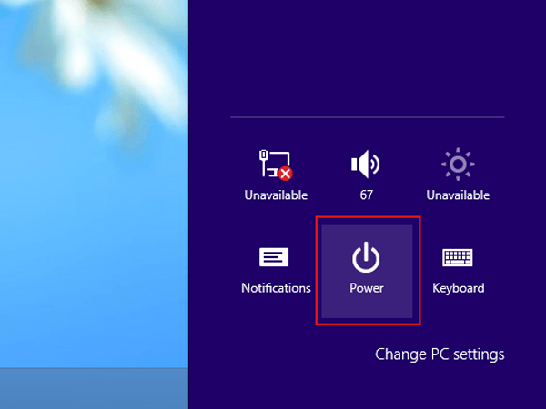 How to Restart, Sleep, Shut Down and Sign Out on Windows 8