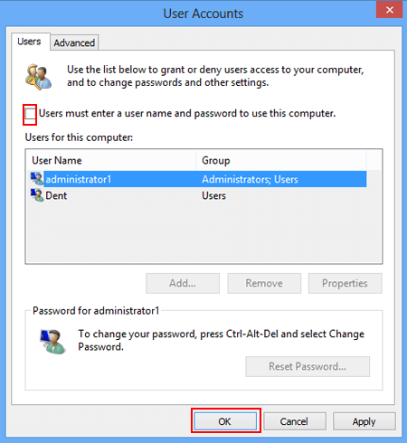 stop windows 10 auto login without password