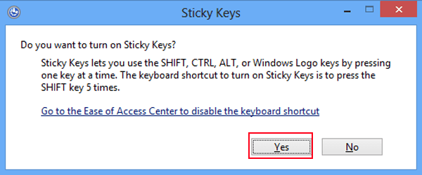 can you permanently disable sticky keys