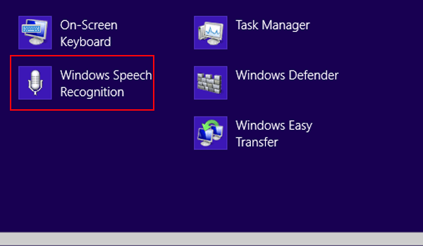 How to Turn on and Turn off Windows 8/8 1 Speech Recognition
