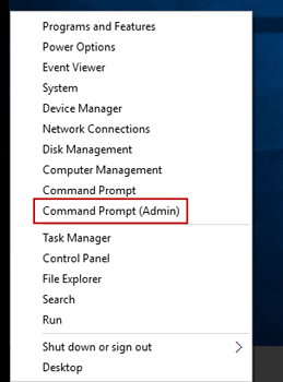 run command prompt with admin rights in windows 10