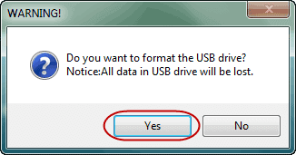 agree to format usb drive