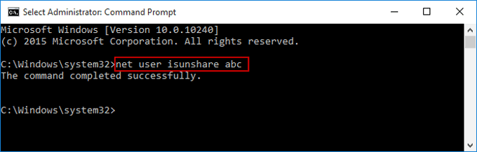 reset surface 3 tablet password with command