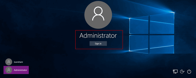 reset surface 3 password with built-in administrator