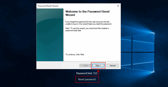 reset surface pro 3 password with password reset disk