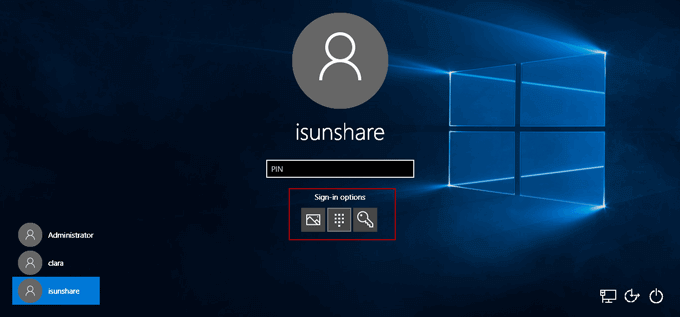 login surface 3 tablet with other sign-in options