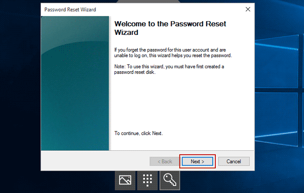 reset windows forgotten password with reset disk