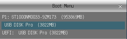 Boot from USB drive - szandras23