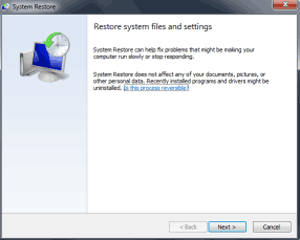 restore windows system and files